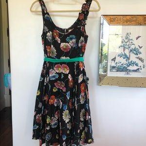 Black Floral Anthropologie Dress